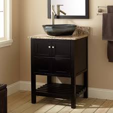 design basin bathroom sink vanities: natural wooden material and marble vessel sink vanity close classy mirror inside small window