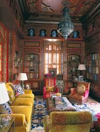 bohemian style living room nutmeg brown mustard yellow and pink bohemian style living room