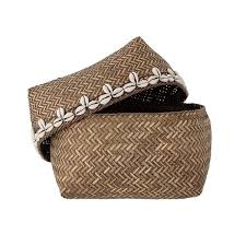 Basket with lid <b>Bamboo</b>, <b>set of 2</b> – TAKARA NORD