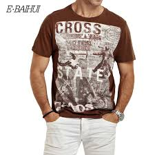 <b>E</b>-<b>BAIHUI</b> 2019 Duck Goofy print <b>t</b>-<b>shirt</b> men tops short sleeve casual ...