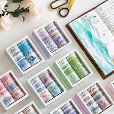 <b>10pcs</b>/<b>box</b> Japan Flower <b>Cute</b> DIY WASHI Paper Tape Diary Album ...