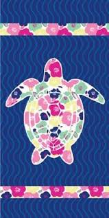 New Blue <b>Flower Sea Turtle</b> Beach Towel Cotton Bath Pool GIFT ...