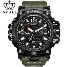 <b>SMAEL</b> Brand <b>Men</b> Sports Watches Dual Display Analog Digital ...