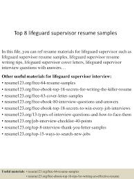 resume job description for lifeguard lifeguard job description and top 8 lifeguard supervisor resume samples lifeguard resume captivating lifeguard resume resume full