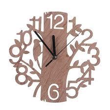 <b>Creative Wooden Wall</b> Clock Retro Big Number Clock Tree Shape ...
