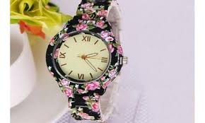 Up To 51% Off on <b>Flowers Printed Watch Women</b> P... | Groupon Goods