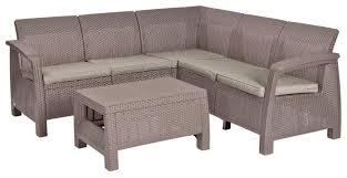 <b>Комплект мебели</b> Allibert Corfu Relax Set (<b>диван</b>, стол) — купить ...