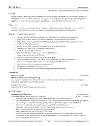 web developer resume template info java sample resume experienced resume sample software developer cv