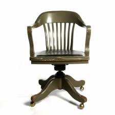 my dad had this exact same chair in our home antique deco wooden chair antique leather swivel desk chair