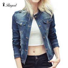 Rugod <b>2018 New Spring</b> Autumn Denim Jackets Women Vintage ...