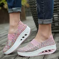 <b>Women</b> Fashion Handmade Sport Slim Sneaker Breathable Thick ...