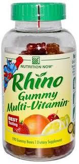 Nutrition Now Rhino Gummy Multi-Vitamin - 190 ... - Amazon.com