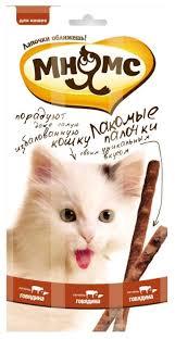 Лакомство для кошек <b>Мнямс Лакомые палочки Говядина</b>, печень ...
