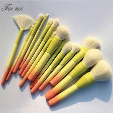 <b>Pro Gradient Color 14pcs</b> Makeup Brushes Set Soft Cosmetic ...