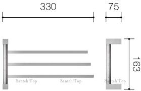 <b>Полотенцедержатель Schein Durer</b> 26834 тройной <b>поворотный</b> ...