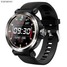 SENBONO <b>S18 Full</b> Screen <b>Touch</b> Smart Watch IP68 Waterproof ...