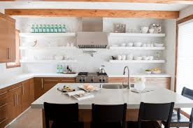 Kitchen Open Shelves 28 Creative Open Shelving Ideas Freshomecom