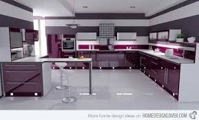 modular kitchen colors: violet colored kitchen  glass line violet colored kitchen