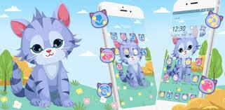 Blue <b>Cartoon Cat</b> Theme - Apps on Google Play
