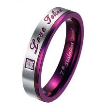 Amazon.com: Brand <b>New Titanium</b> Stainless <b>Steel</b> Promise <b>Ring</b> ...