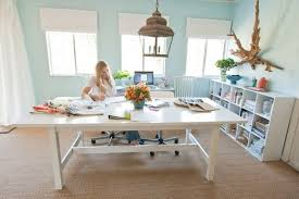 light bright office via pure style home by judith bright office
