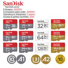 <b>SanDisk 100</b>% <b>Original micro</b> sd 128GB 64GB 32GB 16GB 98mb/s ...