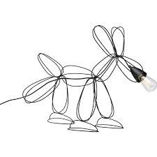 <b>Kare</b> Design Dog <b>Wire</b> Black — оригинальная <b>настольная лампа</b> ...