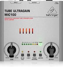 Behringer Tube Ultragain MIC100 Audiophile Vacuum ... - Amazon.com