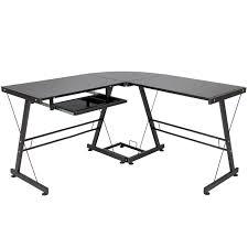 l shape computer desk pc glass laptop table workstation corner home office black black home office laptop