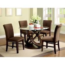 small dining tables sets:  hot furniture for home interior decoration with various glass dining table top only casual image