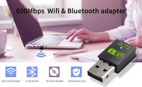 USB WiFi Bluetooth Adapter, 600Mbps Dual Band 2.4 ... - Amazon.com