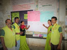 photo essay s national campaign to raise awareness of child 3 signature campaign childline staff gain signatures from community members and youth at a bus station in pathapatnam