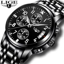 <b>relogio masculino</b> LIGE <b>Mens Watches</b> Top Brand Luxury Fashion ...