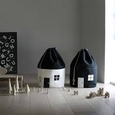 Black & White <b>Canvas House</b> Toy <b>Storage</b> Bag #kidsroomstorage ...