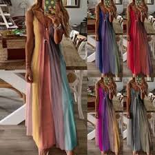 Fashion Women Sexy Gradient Print Sleeveless V-Neck ... - Vova