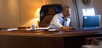 president obama in his air force one office air force 1 office