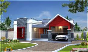Contemporary Single Floor House Plans In Kerala   Homemini s comRemarkable Bedroom House Plan Kerala Style Exterior Single Floor Home In Square Feet Indian