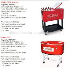 steel patio cooler quart rolling patio cooler with tray  quart stainless steel cooler cart meta