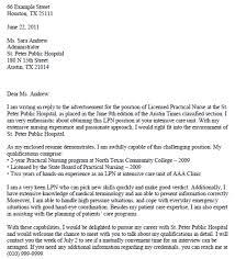 lpn cover letter sample cover letter example nursing