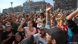 Migrant crisis: Budapest Keleti <b>station</b> shutdown sparks <b>anger</b> - BBC ...
