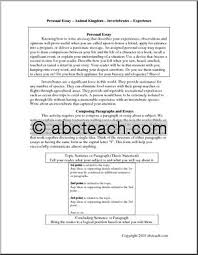 a personal experience essay namescores the personal essay