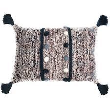 <b>Подушка декоративная с помпонами</b> и кисточками — купить по ...