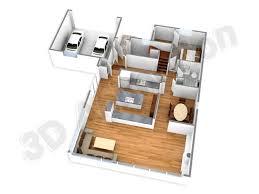 D Floor Plans  D Floor Plan Designing  D Floor Rendering India     d house plans