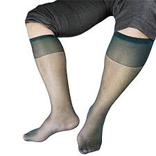 New-Hi <b>Men</b> Soft Sexy <b>Nylon</b> Traceless Middle Tube <b>Silk Socks</b> ...