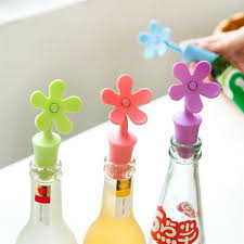 <b>4pcs</b> Wine <b>Bottle Stopper</b> Silicone Flowers <b>Bar</b> Tools Preservation ...