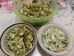 Салат из мяса грибов и зеленого горошка