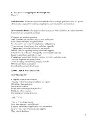 receiving clerk resume s clerk lewesmr sample resume housekeeping resume objective for shipping receiving