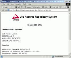 part of chapter from professional java web  results of resume retrieval