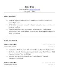 free baby sitter resume samples in wordchild care resume sample