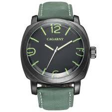 [41% OFF] 2020 <b>CAGARNY 6833 Leather Men</b> Quartz Watch In ...